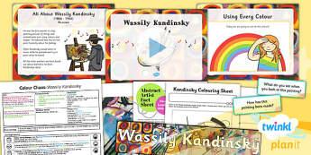 Art: Colour Chaos: Kandinsky KS1 Lesson Pack 6