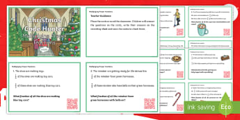 Y6 Multiplying Fractions Christmas QR Challenge Cards - proper, Improper, Mixed, word problems, quiz, Reasoning, Applying, Mastery