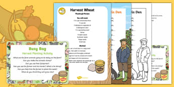 Harvest Planting Activity Busy Bag Prompt Card and Resource Pack