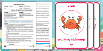 EYFS Move like a Sea Creature Adult Input Plan and Resource Pack - Physical Development, Moving and Handling, Twinkl Fiction, Starry-Eyed Stan, Twinkl Originals, PE, E