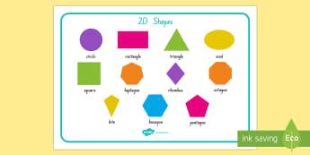 2D Shape Word Mat - shapes, 2D shapes, word mat, shape mat, geometry, nz