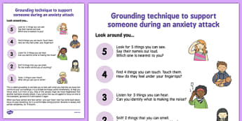 Grounding Technique to Help During an Anxiety Attack - grounding, technique, support, anxiety attack