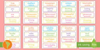 Inspirational Adjective Words US English/Spanish (Latin) - adjectives, words, inspirational, adjectves, adejctives, adjetives, adjectvies, adlectives, spanish,