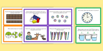 Fractions Challenge Cards - fractions, challenge, cards, activity