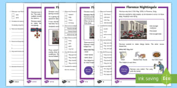 KS1 Florence Nightingale Differentiated Reading Comprehension Activity - EYFS/KS1 Florence Nightingale's Birthday (12.5.17), 12th May, Florence Nightingale, KS1 Florence Ni