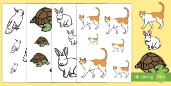 Pets Size Ordering Cut-Outs - pets, cut-outs, size ordering, animals