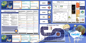 Back to Earth with a Bump Guided Reading Y1 Unit Pack - space, moon, planets, sun, Whatever Next, fiction, whatever next!, story, literacy, english, whole c