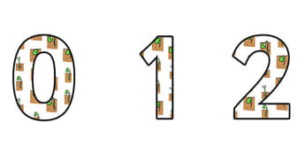 Reproduction Plants Display Numbers - reproduction plants, reproduction plants display, reproduction plants themed numbers, reproduction plants 0-9 numbers