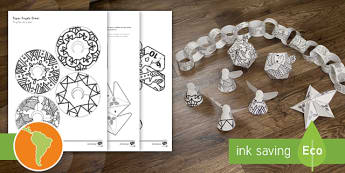 Mindfulness Coloring Christmas Decorations US English/Spanish (Latin) - mindfulness, coloring, color, christmas, decorations, ESL