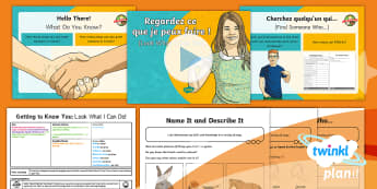 French: Getting to Know You: Look What I Can Do! Year 5 Lesson Pack 1 - french, languages, practice, introduction, skills, listening, speaking, vocabulary