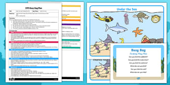 EYFS Under the Sea Finding Play Mat Busy Bag Plan and Resource Pack