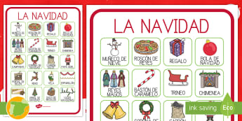 Póster DIN A4: Vocabulario -  La  Navidad - vocabulario, vocabulario clave, navidad, navideño, navideña,Spanish