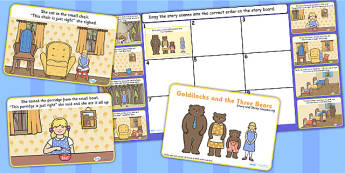 Goldlilocks Story and Story Sequencing Flipchart - goldilocks