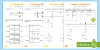 Dividing by 10 and 100 Activity Sheet - place value, divide by 10, divide by 100, division, decimals, worksheet