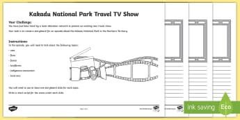 Australian States and Territories – Kakadu TV Show Storyboard Activity - Year 3, ACHASSK066, geography, Australian curriculum, conservation, Northern Territory, lesson, rese