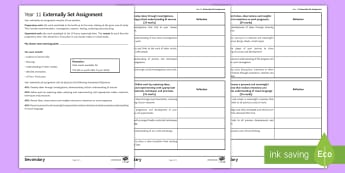 AQA Art and Design: Support Tracker for Externally Set Assignment  - assess, evaluate, review, support, AQA, art, GCSE, ESA, externally set assisgnment, preparatory work