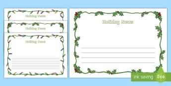 Holiday News Page Border Pack - Christmas Page Borders - Christmas, xmas, Happy Christmas, tree, advent, nativity, page border, bord