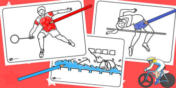 The Commonwealth Games Colouring Sheets - sports, pe, colour