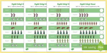 Taflenni Gweithgaredd Gwahaniaethol Rhifedd Dydd Gŵyl Dewi - Dewi Sant (St David's Day 1.3.17), rhifedd, cyfri, rhifedd Dewi Sant, ,Welsh
