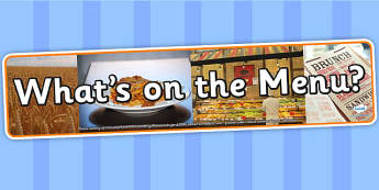 Whats on The Menu Photo Display Banner - on the menu, IPC display banner, IPC, on the menu display banner, IPC display, menu role play