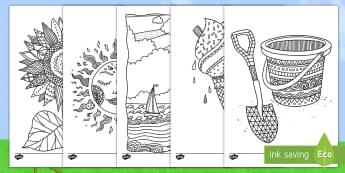 Vara Pagini de colorat mindfulness - an școlar, sfârșit de an școlar, sfarsit de an scolar, an lectiv, sfârșitul anului școlar, sf
