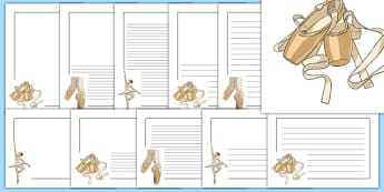 Ballet Page Borders - ballet, dance, creative, page borders