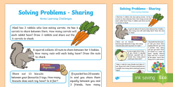 EYFS Maths: Solving Problems – Sharing Home Learning Challenges - EYFS, Number, ELG, mathematics, early years, EYFS Planning, teaching, activities, maths, small group