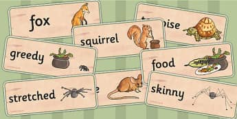 Why Anansi Has Eight Skinny Legs Word Cards - myths, history