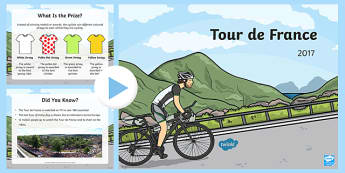 KS1 Tour de France Information PowerPoint - bicycle, cycle, race, sports, competitive