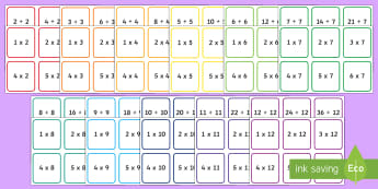 Multiplication and Division up to 12x Cards - multiplication, division, 2 times, 3 times, 4, times, 5 times, 6 times, 7 times, 8 times, 9 times, 1