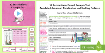 Y2 Instructions Model/Example Text - Example Texts Y2, instructions, Geography, continents, globe, exemplification, moderating, moderatio, ARE, age-related example, model, model text, age-related model