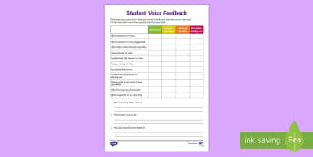 Student Voice Survey Checklist - student voice survey, student report, student feedback, 360, appraisal, teacher registration