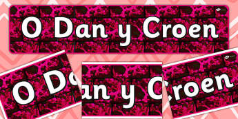 Skin Deep Themed Banner Welsh - display, banners, skin