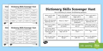 KS2 Dictionary and Thesaurus Resources