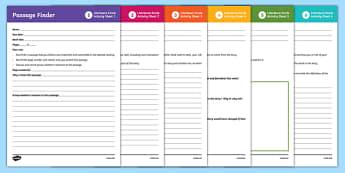 Literature Circle Role Writing Activity Sheet , worksheet