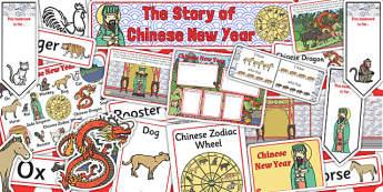 Chinese New Year Story Sack - chinese new year, story, sack