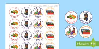Healthy Lunch Motivational Stickers - EYLF, Australia, Rewards, Early Childhood, Early Years, healthy eating, lunch reward,Australia