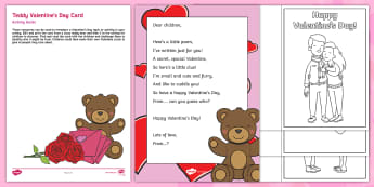 Editable Class Teddy Valentine's Day Card Topic Hook Activity and Resource Pack  - Valentine's Day, Valentine's Cards, St Valentine, Love, February 14th.