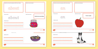 100 High Frequency Words Make Read Write Activity Mats - EYFS Phonics Make Read Write Activity Mats, Letters and Sounds, Phase 2, Phase 3, Phase 4, Phase 5,