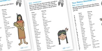 Your Native American Name - your native american name, Native Americans, natives, indian, moccasin, native name, name, bow and arrow, dream catcher, wild west