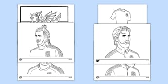 Wales Football Team Colouring Sheets - wales, football team, football, colouring sheet, colouring, colour