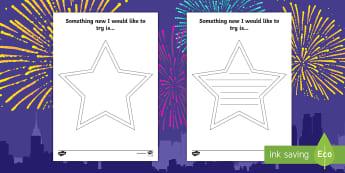 New Year Resolution Stars - New Year Resolution Stars - EYFS, KS1, new year, targets, resolutions, happynewyear, new yeAT, new y