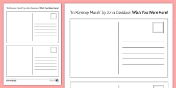 'In Romney Marsh' by John Davidson Wish You Were Here Postcards - GCSE English Literature, Time and Place Cluster, Edexcel Poetry, Poetry Exploration, Exam Practice,