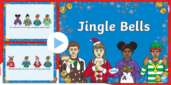 BSL Jingle Bells Song  PowerPoint - BSL Christmas Resources, Christmas, Sign Support, British Sign Language, Signed Christmas Songs, Sig