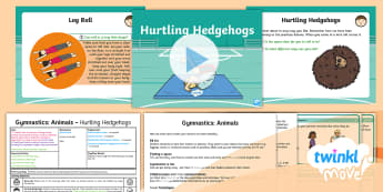 Twinkl Move - Y1 Gymnastics: Animals Lesson 5 - Hurtling Hedgehogs - KS1, Key Stage 1, Year 1, Y1, PE, Physical Education, Exercise, Sport, Gymnastics, Rolling, log Roll