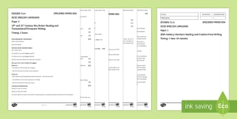 004 Eng Lang EDUQAS Style P2 Exam Questions Pack - English language GCSE Exam Papers
