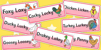 Chicken Licken Word Cards - stories, story books, visual aids