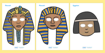 Ancient Egyptian Role Play Masks - Ancient Egyptian, history, Egyptians, role play mask, role play, Egypt, pyramids, Pharaoh, hierogliphics, hieroglyphs, Tutankhamun, Giza, Dahshur, Mummy