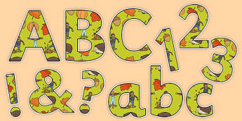 Autumn Display Letters and Numbers Pack