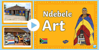 Ndebele Art PowerPoint - Heritage Day, painting, decorating, geometric shapes, patterns, Ndebele style, colourful prints, bol
